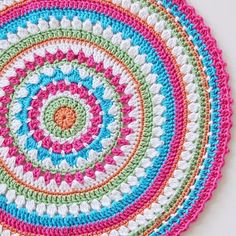 """""""A little mandala making this afternoon I've been inspired to make another #mandysmegamandala cushion after seeing so many colour combinations make by other crocheters. Thanks for the inspiration  Pattern On the Blog #linkinprofile"""" Photo taken by @redagape_styleanddesign on Instagram, pinned via the InstaPin iOS App! http://www.instapinapp.com (09/13/2015)"""