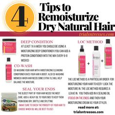 4 Tips To Remoisturize Your Dry Natural Hair