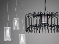 Steel wire lamps from Modo Luce – Icaro