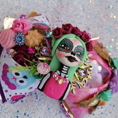 Folklor moño bow catrina colores Mexico muertos
