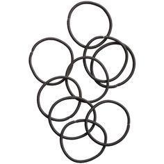 H&M 10-pack hair elastics (17 DKK) ❤ liked on Polyvore featuring accessories, hair accessories, fillers, hair, jewelry, black, h&m hair accessories, ponytail hair ties and elastic hair ties