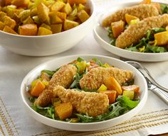 Tenders Squash Salad made with   PERDUE® SIMPLY SMART® Breaded Chicken Breast Tenders, Gluten Free