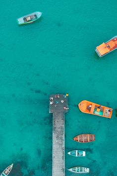 Aerial View of Boat Dock