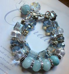 renewal aquamarine quatyz pandora chunky charm bracelet
