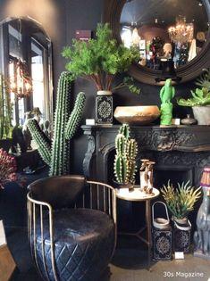 New Apartment Living Room Design Interiors Cactus Ideas My Living Room, Living Room Decor, Dining Room, Interior Design Living Room, Living Room Designs, Dark Interiors, Design Interiors, Home And Deco, Interior Exterior