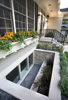 egress window wells landscape traditional with planting transitional outdoor wall lanterns