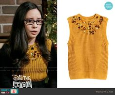 Smackle's yellow embellished top on Girl Meets World Matching Outfits, Cute Outfits, Matching Clothes, Girl Meets World, Embellished Top, Well Dressed, Crochet Top, Going Out, Style Inspiration