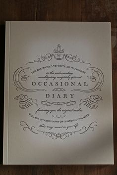 Occasional Diary. Now where can I get this?