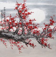 This is chinese traditional painting painted by Qujun,use brush,water and chinese traditional colour drawing on the rice paper.the colour is different from