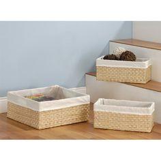 Neu Home Sea Grass Basket Set, Multicolor Linen Closet Organization, Storage Organization, Storage Bins, Sisal, Seagrass Storage Baskets, Large Baskets, Hanging Baskets, Basket Decoration, Home Decor Outlet