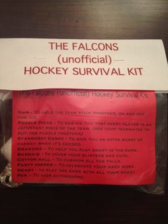 Hockey survival kit More