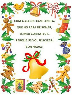 Poema: Com alegra campaneta Christmas Arts And Crafts, Christmas Stuff, Jingle Bells, Martini, Xmas, Seasons, Infants, Party, School