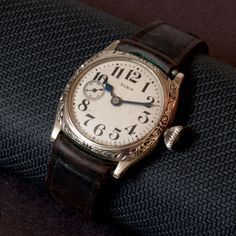1918 Elgin Antique Western Wristwatch - 12894