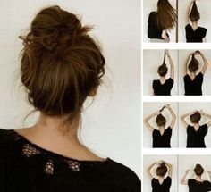 The french bun. Also known as the dancer's secret to a perfect messy bun. I've always wanted to achieve the perfect messy bun. Hair Day, My Hair, Girl Hair, Perfect Messy Bun, Cute Messy Buns, Quick Messy Bun, Nice Buns, Great Hair, Awesome Hair
