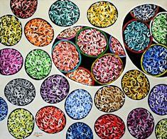 Charles Hossein Zenderoudi AYAME 2008 Mixed media, pigments, acrylic on canvas 69 1/4 X 83 7/8 in