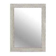 WOODEN WALL MIRROR IN BEIGE-BLACK COLOR 60X80 - Wooden - Polyester - MIRRORS