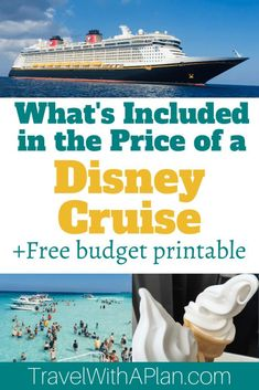 What is Included in Your Disney Cruise Fare Best Cruise, Cruise Tips, Cruise Travel, Cruise Vacation, Disney Vacations, Disney Travel, Family Vacation Destinations, Family Vacations, Travel Destinations