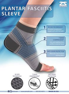 The Zensah PF Compression Sleeve is designed using special technology to help provide all day relief from plantar fasciitis pain. It is able to be worn from everyone from athletes to those on their fe