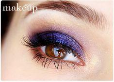 blue make up for brown eyes