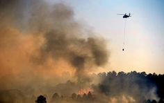 Black Forest Fire Now Most Destructive in Colorado History, 360 Homes Lost And No Containment By Kiley Kroh on Jun 13, 2013 Helicopter makes a water drop on Black Forest Fire in Colorado Springs (Photo by Helen H. Richardson/The Denver Post)
