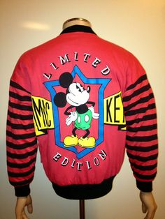 Vintage 90s Super Soft  Walt Disney MICKEY MOUSE Reversible Jumper zipper Sweatshirt. 68.00, via Etsy.