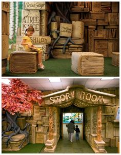 Tennessee's Brentwood Library–a fairytale forest, complete with a talking owl, for wild childhood imagination.