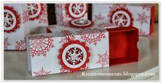 fun Christmas-y box with photo tutorial Geschenkschachtel - Anleitung