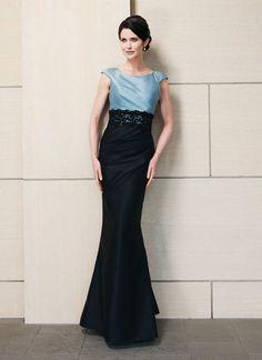 Sirène robe mères des mariés en soie - gratuit boléro inclus