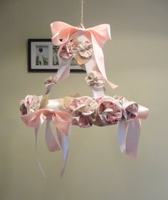 Shabby Chic Baby Mobile with Handmade by LilAudreysflowershop, $50.00