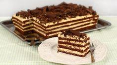 """Prăjitura """"Lulu"""" cu ciocolată și cremă de mascarpone și caramel Dessert Cake Recipes, No Cook Desserts, Dessert Bread, Sweets Recipes, Romanian Desserts, Romanian Food, Salty Cake, Honey Recipes, Sweet Cakes"""