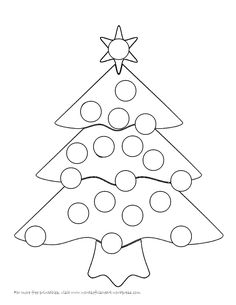 Bingo Dauber Coloring Pages. Coloring pages are more than a rainy day action. They may be a fantastic teaching chance for kid motor moral and expertise, mental Christmas Tree Game, Christmas Tree Printable, Christmas Tree Template, Christmas Bingo, Christmas Tree Painting, Christmas Tree Crafts, Christmas Colors, Kids Christmas, Preschool Art Activities