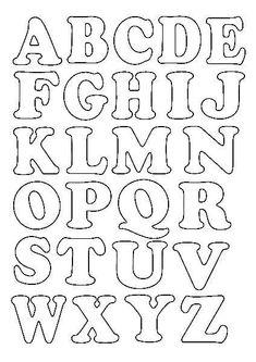 Alfabeto Para Patchwork Para Imprimir - Imagens Para Alphabet Letter Templates, Printable Letter Templates, Alphabet A, Hand Lettering Alphabet, Alphabet Stamps, Alphabet Stencils, Graffiti Alphabet, Calligraphy Alphabet, Islamic Calligraphy