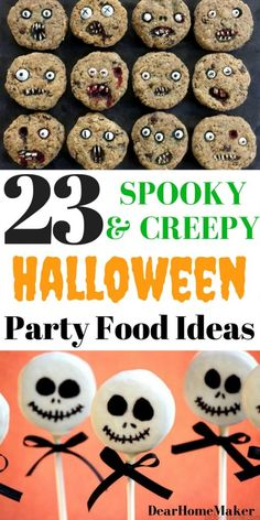 Make Halloween even more exiciting with these Halloween party Food ideas. From cute and simple food ideas for kids to some scary snacks and dinner ideas for adults. food ideas for kids dinner Halloween Desserts, Spooky Halloween, Cheap Halloween, Halloween Food For Party, Halloween Halloween, Halloween Costumes, Halloween Appetizers, Halloween Celebration, Women Halloween