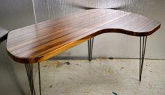 Walnut Desk - Mid-Century Modern - Hairpin Legs on Etsy, $885.18 office table