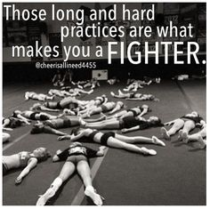 Those long and hard practices are what makes you a fighter. #BeEpic