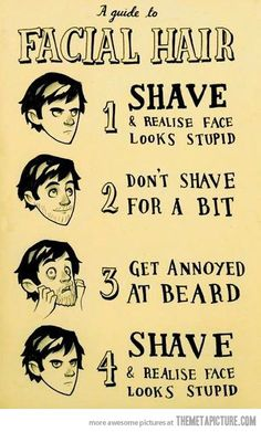 That's why you just keep the beard...