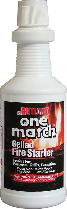 Rutland One Match Gelled Fire Starter -- Be sure to check out this awesome product. (This is an Amazon Affiliate link and I receive a commission for the sales)
