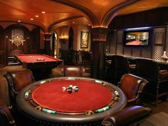 Exquisite detail in this Game Room...