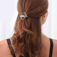 Simple Solid Color Hollow Out Square Hairpin For Women #jewelry, #women, #men, #hats, #watches, #belts