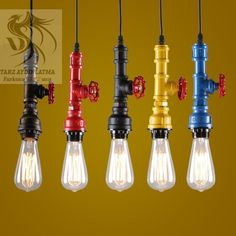 Industrial styling with Edison bulbs.
