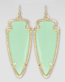 Kendra Scott Skylar Arrow Earrings, Chalcedony