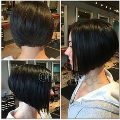 Classical short graduated bob ((20870 | Flickr - Photo Sharing!)