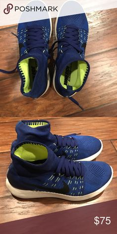 online store 141f9 c8a45 Nike LunarEpic Flyknit Blue Black Running Shoe Great condition Nike Shoes  Athletic Shoes
