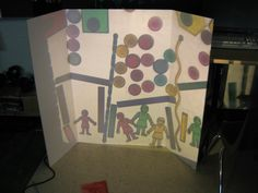 If you are lacking wall space these 'display boards' work wonderfully - they make an instant canvas for light play! -A Recipe for Wonder -Twitter