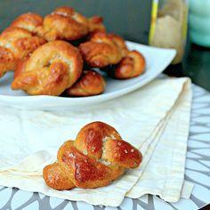 High Fiber Soft Pretzel Knots - White Whole Wheat flour makes these pretzels healthier without sacrificing taste.