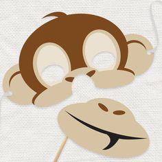 monkey printable mask  diy costume digital par idoityourself
