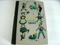 Grimm's Fairy Tales, Junior Deluxe Edition, Leonard Weisgard, Vintage Children's Book, 1954 Wilhelm Grimm, Grimm Fairy Tales, Red Sonja, Jessica Rabbit, Jackson Pollock, Vintage Children's Books, Pin Up Art, Red Riding Hood, The Elf
