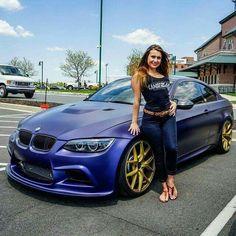 BMW E92 M3 matte blue