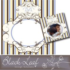 #FREE #Photoshop.Graphic - Father's Day Frame  Blackleaf Studios via MyGrafico