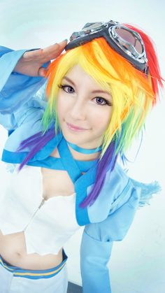 Rainbow Dash (steampunk) cosplay